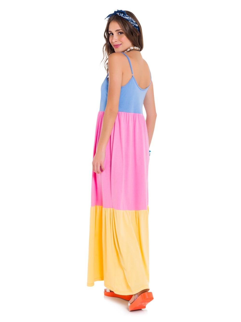 Camisola longa alcinha colorida fresquinha estilosa lançamento