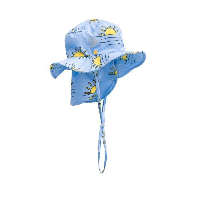 Chapéu para praia unissex com estampa do sol proteção solar