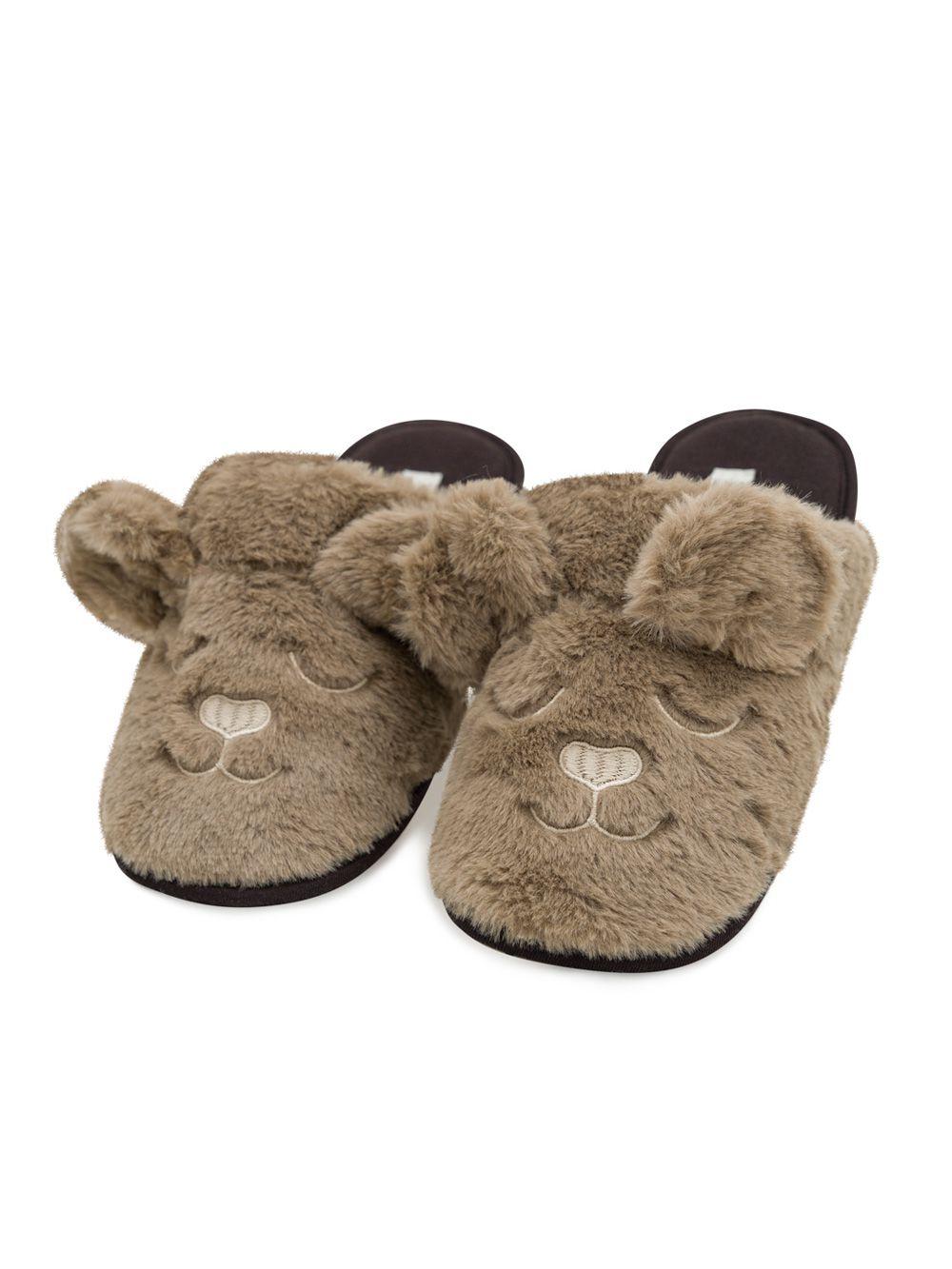 Chinelo pantufa quarto infantil unissex carinha ursinho