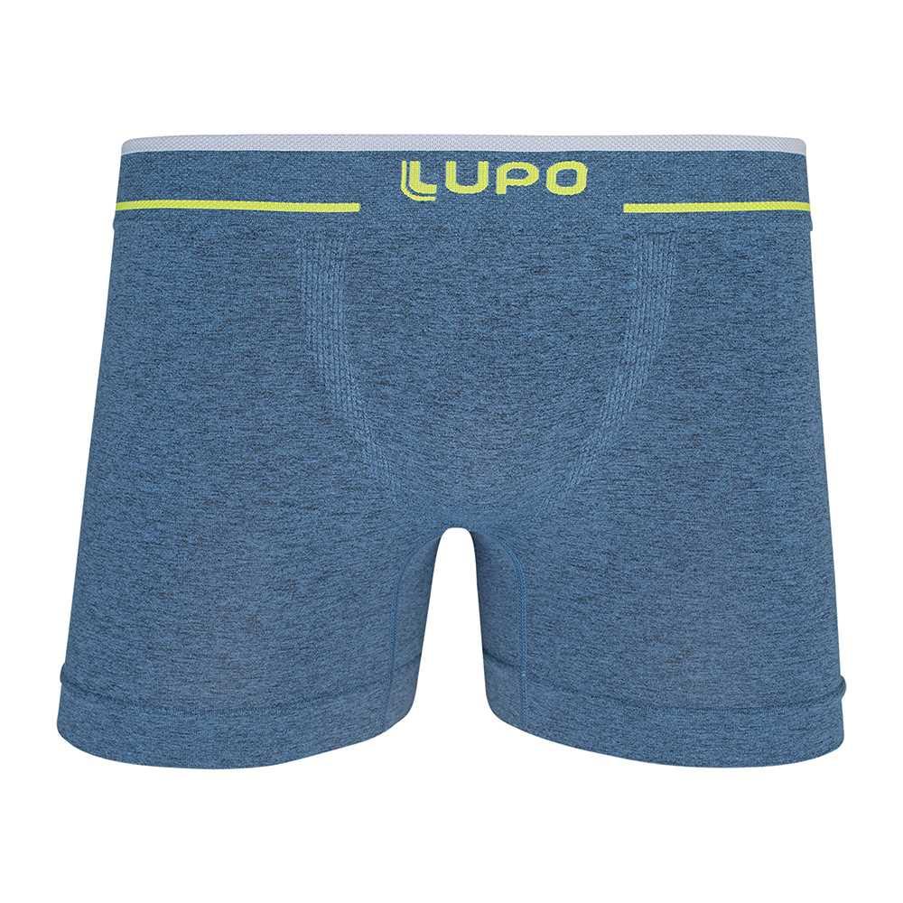 Cueca boxer plus size sem costura super confortável lupo