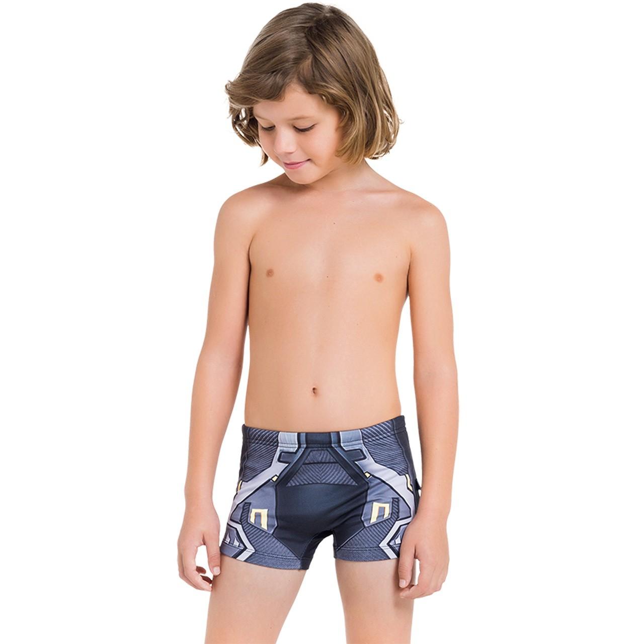 Cueca de praia infantil batman criança proteção solar