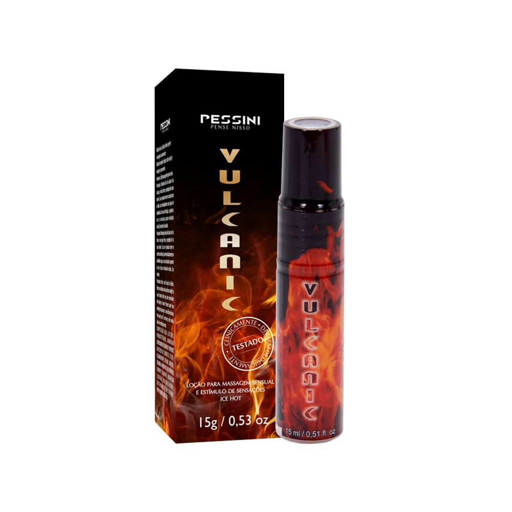 Gel excitante vulcanic esquenta esfria unissex 15ml