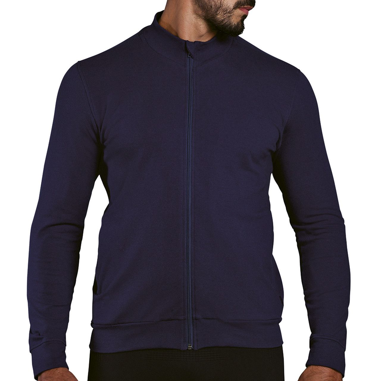 Jaqueta moletom esportiva inverno masculina ziper com bolso