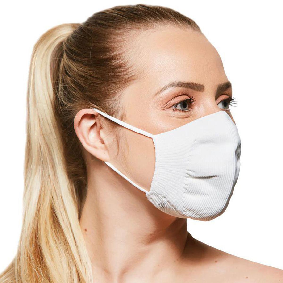 Kit 2 máscaras proteção adulto preta lupo