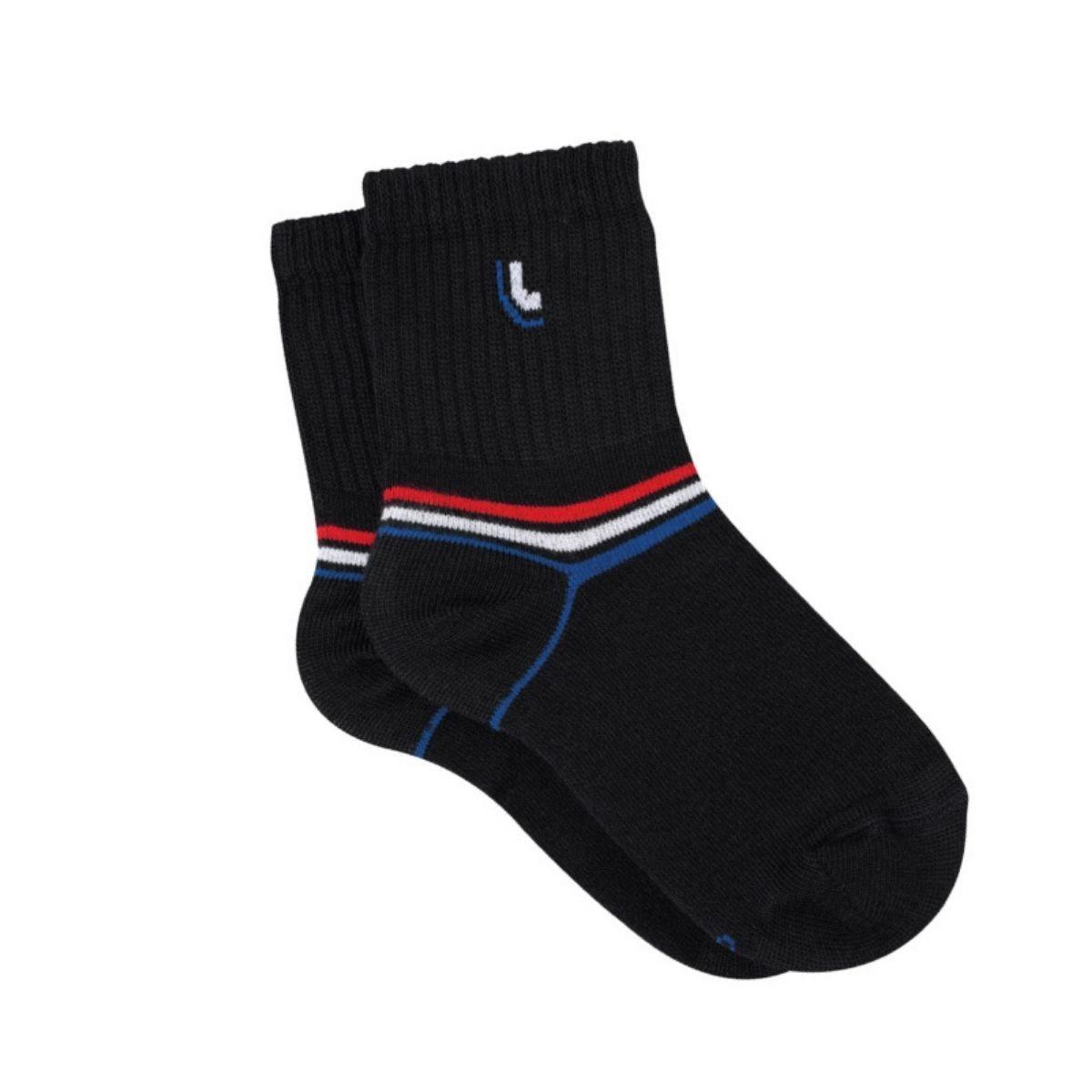 Kit meias 3 pares branca infantil cano médio algodão lupo