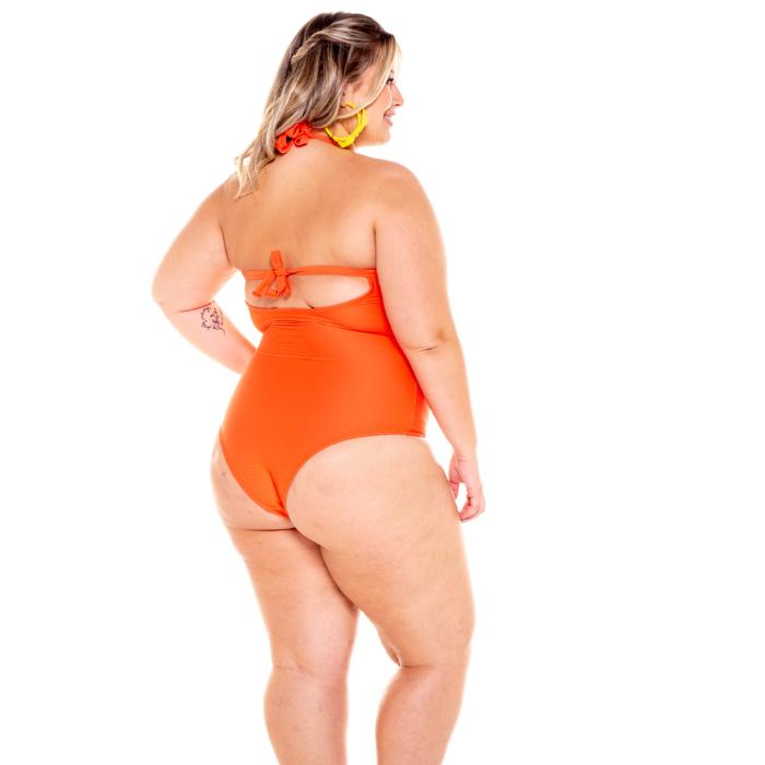 Maiô modelador bojo plus size verão amarração costa