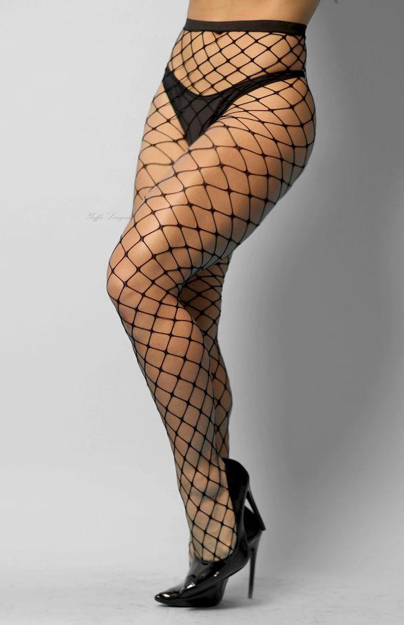 Meia calça fashion arrastão sexy trama grande cós alto