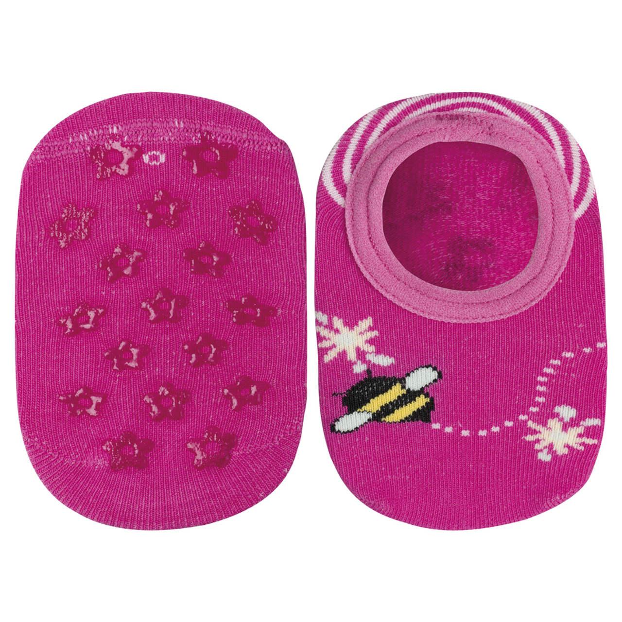 Meia sapatilha bebe antiderrapante abelinha lupo