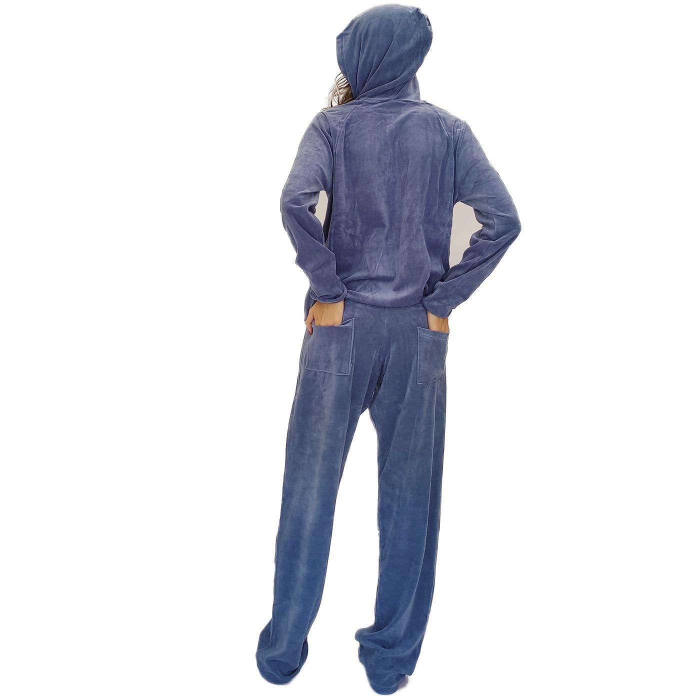 Pijama abrigo plush com capuz blusa bolso colorido