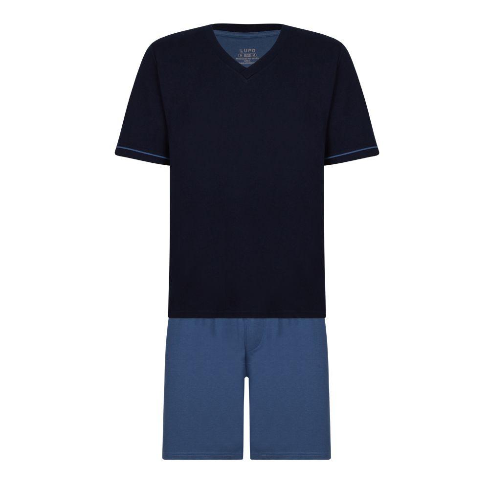 Pijama adulto algodão manga short básico lupo