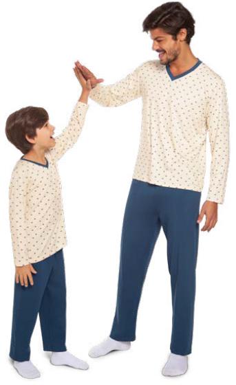 Pijama adulto masculino blusa decorada inverno pai  lupo