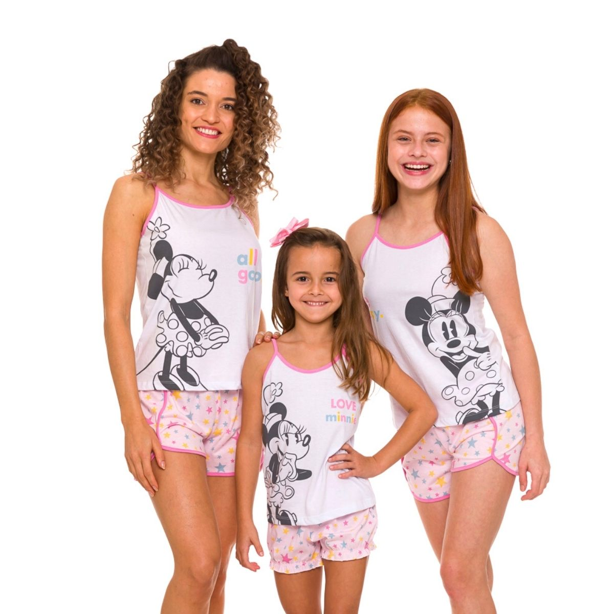 Pijama bady doll mamãe love minnie fresquinho turma do mickey