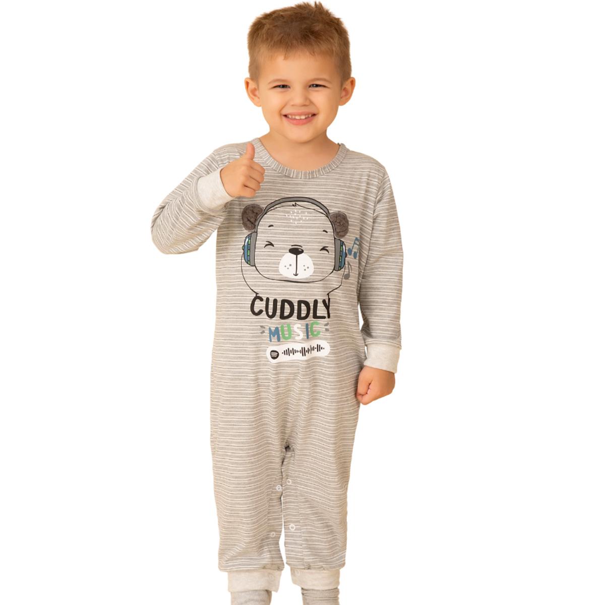Pijama bebê família bichinho algodão