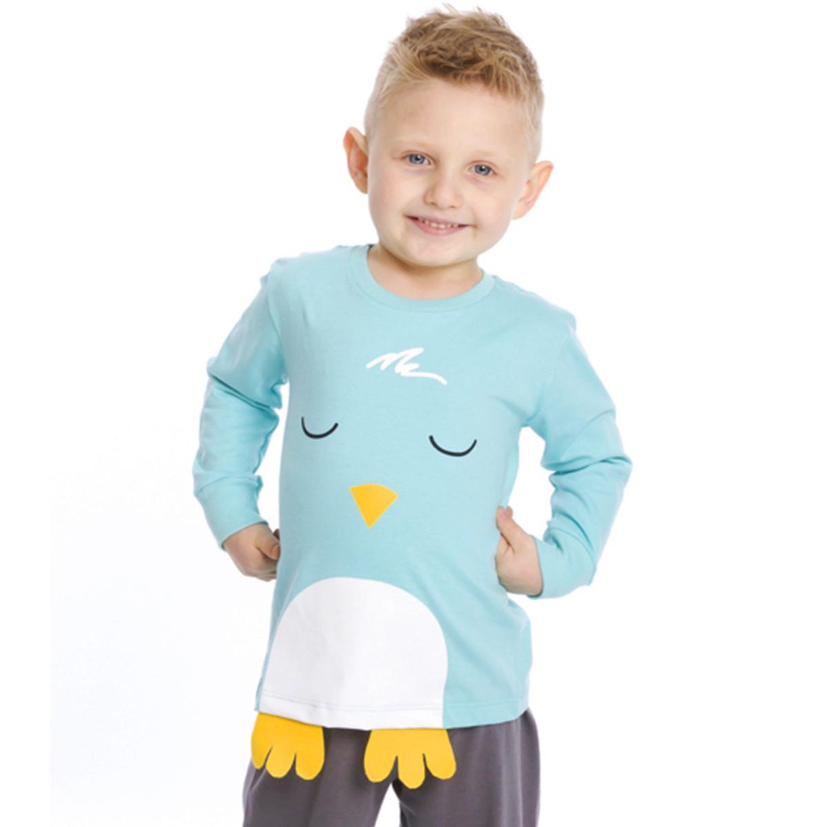 Pijama bebê menino algodão bichinho pássaro