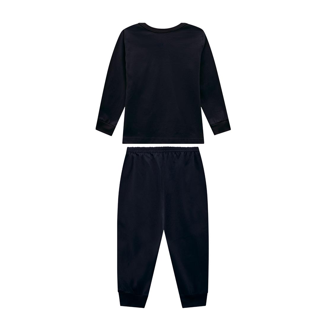 Pijama bebê unissex esqueleto brilha no escuro manga longa