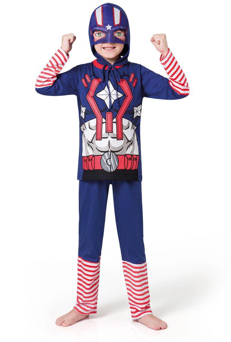 Pijama infantil capitão américa menino acompanha capaz