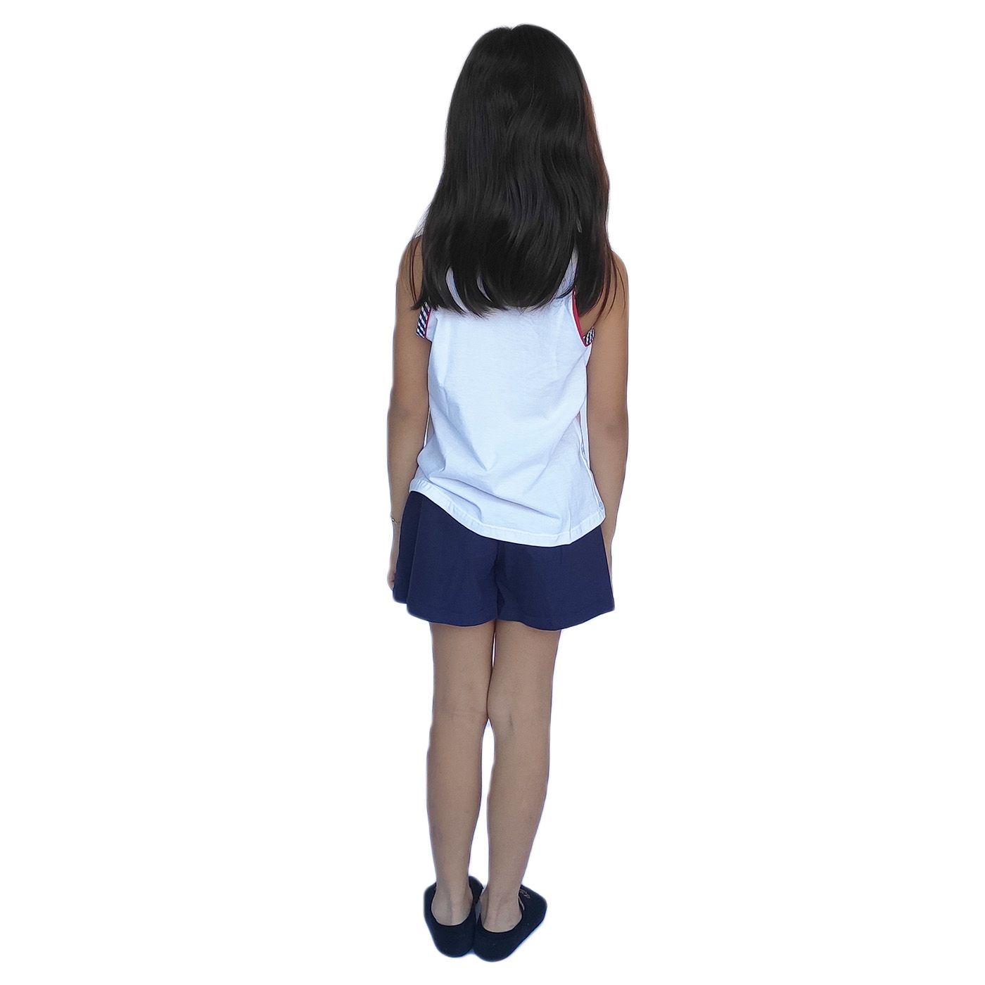 Pijama infantil alcinha short ursinho algodão