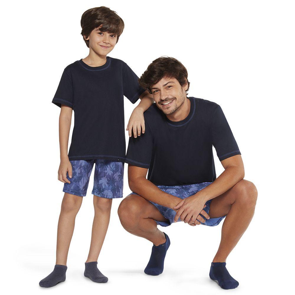 Pijama infantil algodão manga short lupo kids