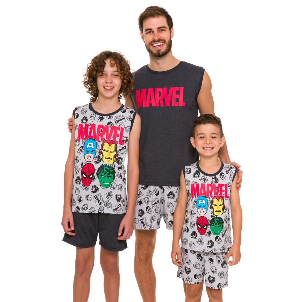Pijama infantil de menino regata marvel lançamento