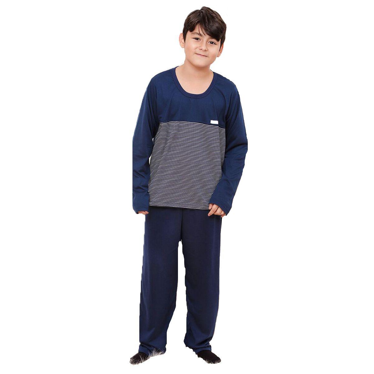 Pijama infantil manga longa calça unissex