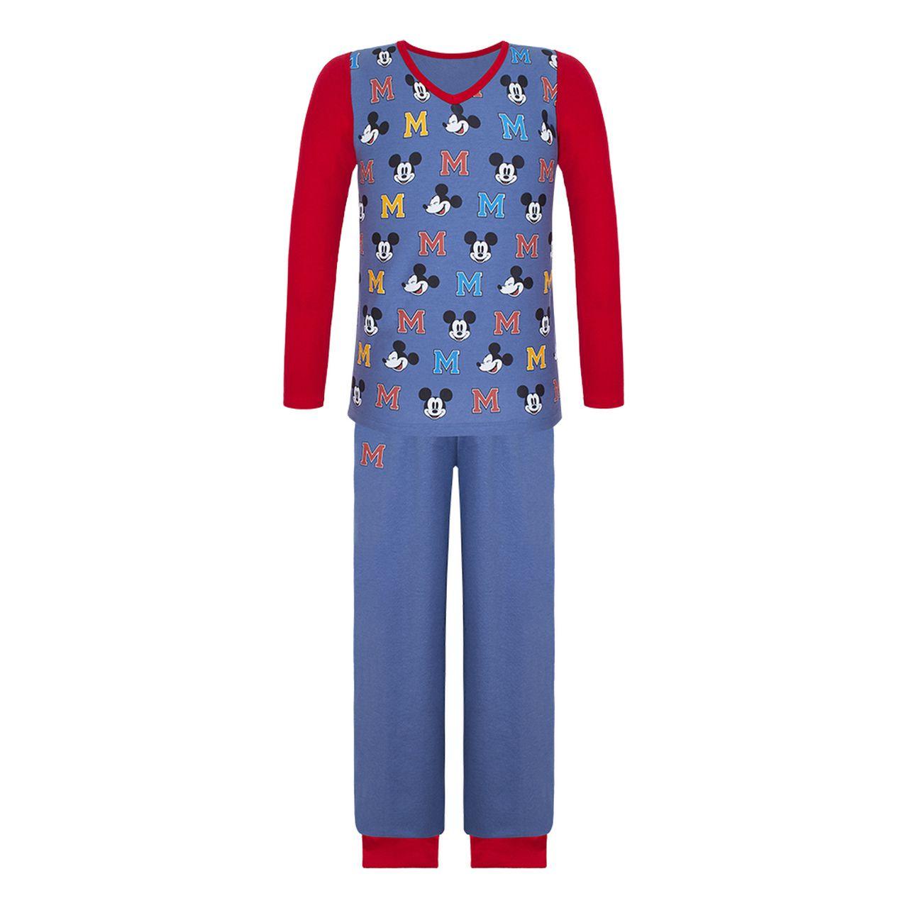 Pijama infantil manga longa mickey algodão disney lupo