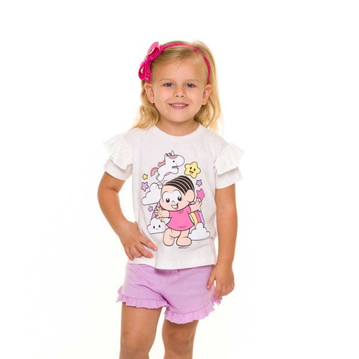 Pijama infantil menina bebe unicornio turma da monica