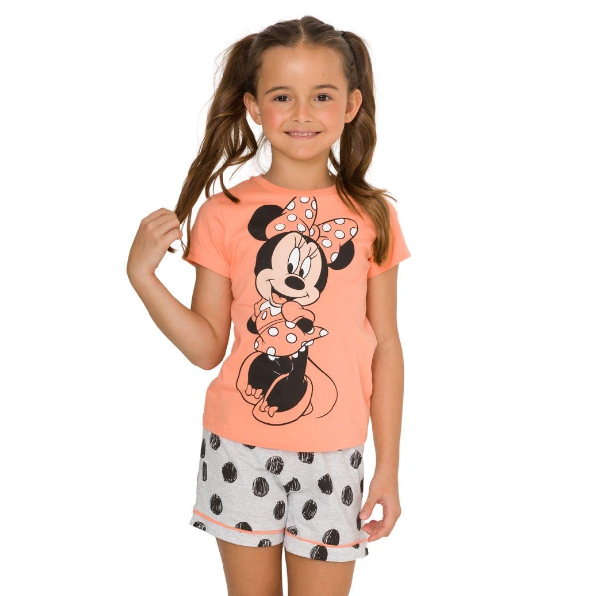 Pijama infantil menina de calor minnie poa estiloso disney