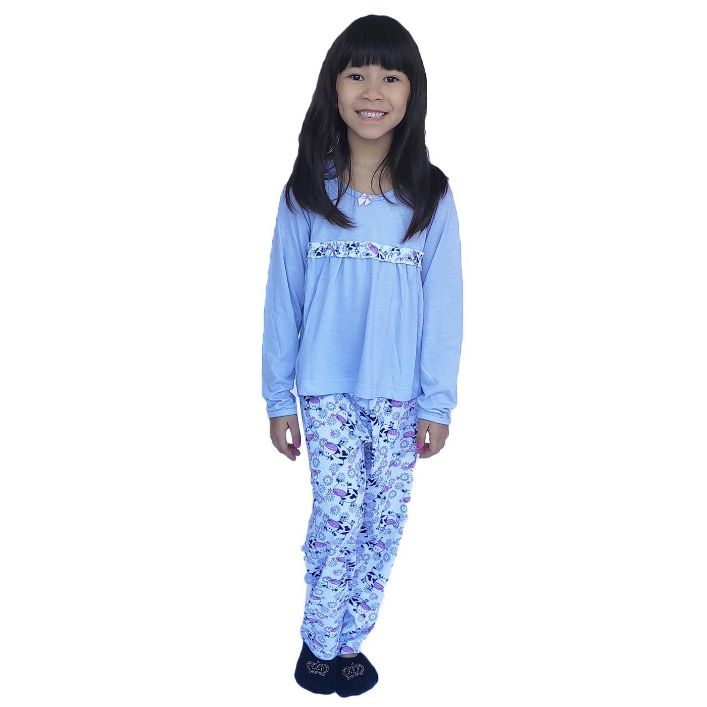 Pijama infantil menina frio busa batinha