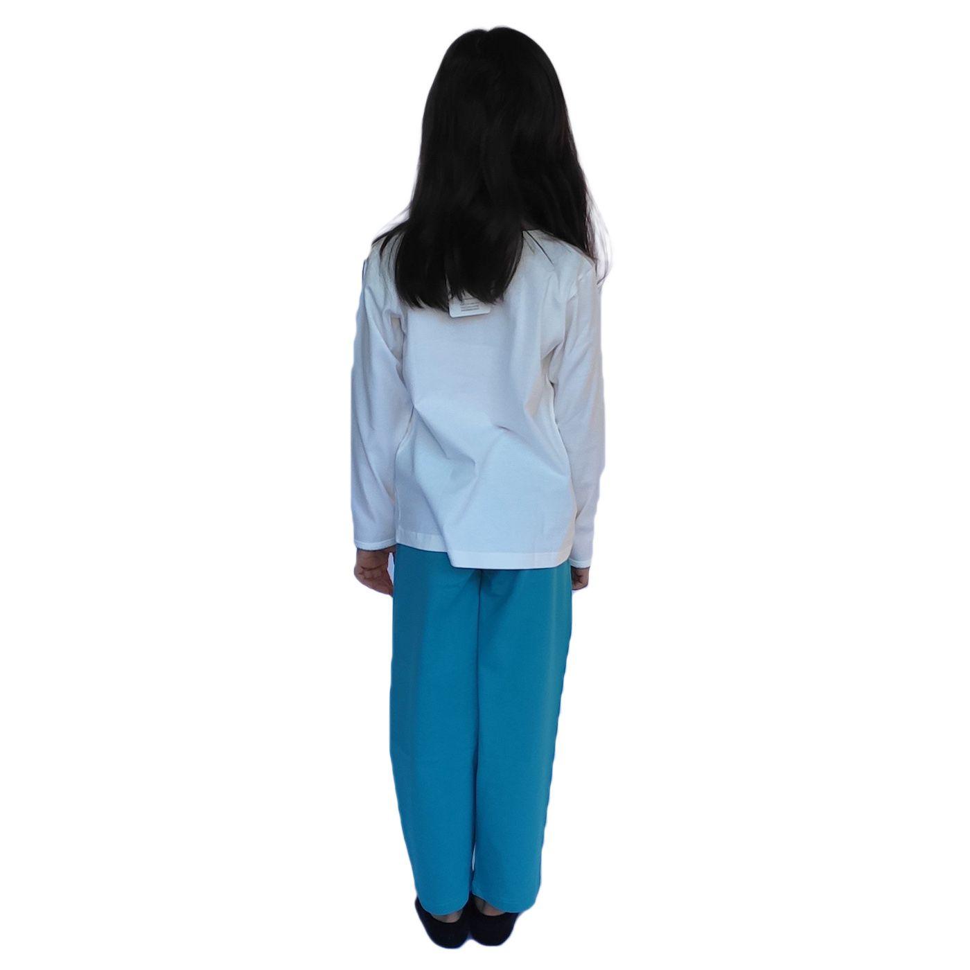 Pijama infantil menina frio manga longa algodão ovelinha