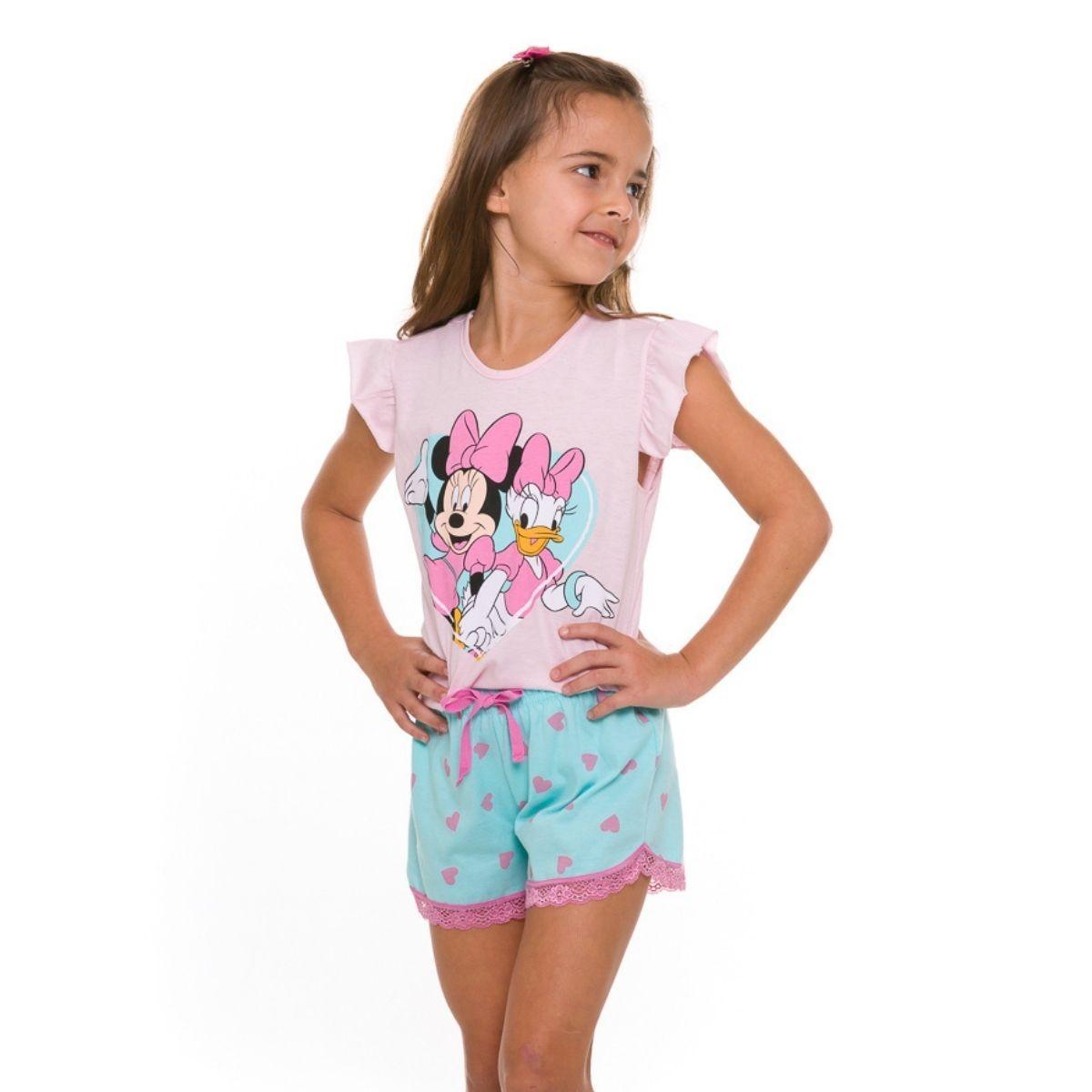 Pijama infantil menina minnie e margarida fresquinho disney