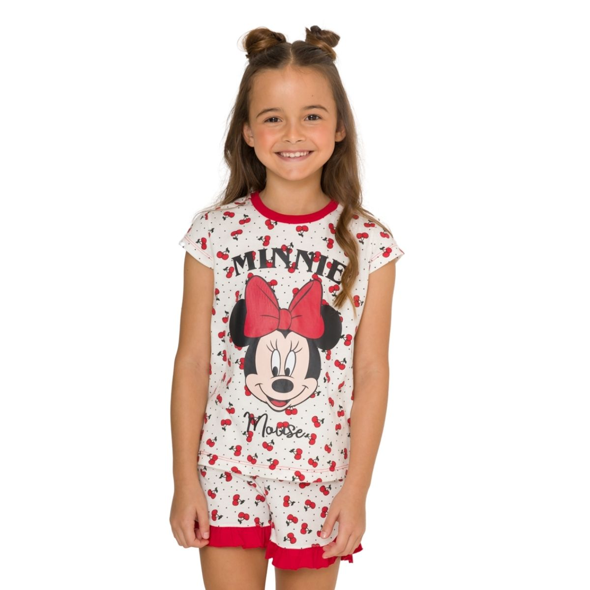 Pijama infanitl menina minnie manguinha short babadinho