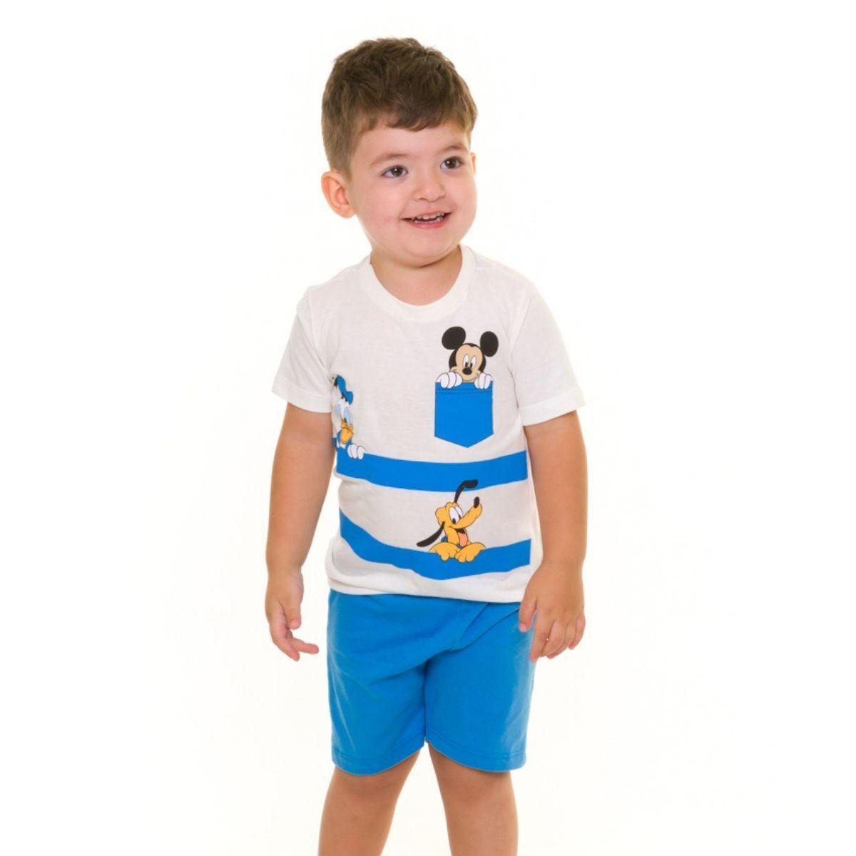 Pijama infantil menino bebe mickey pato donald esconde esconde disney