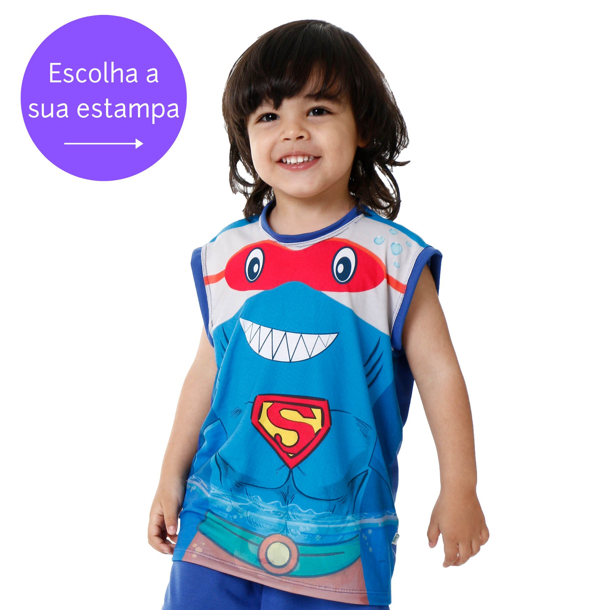 Pijama infantil menino bichinho regata calor