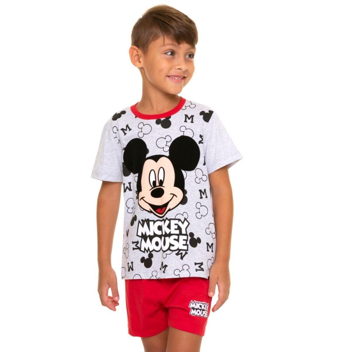Pijama infantil menino com manga curta mickey mouse