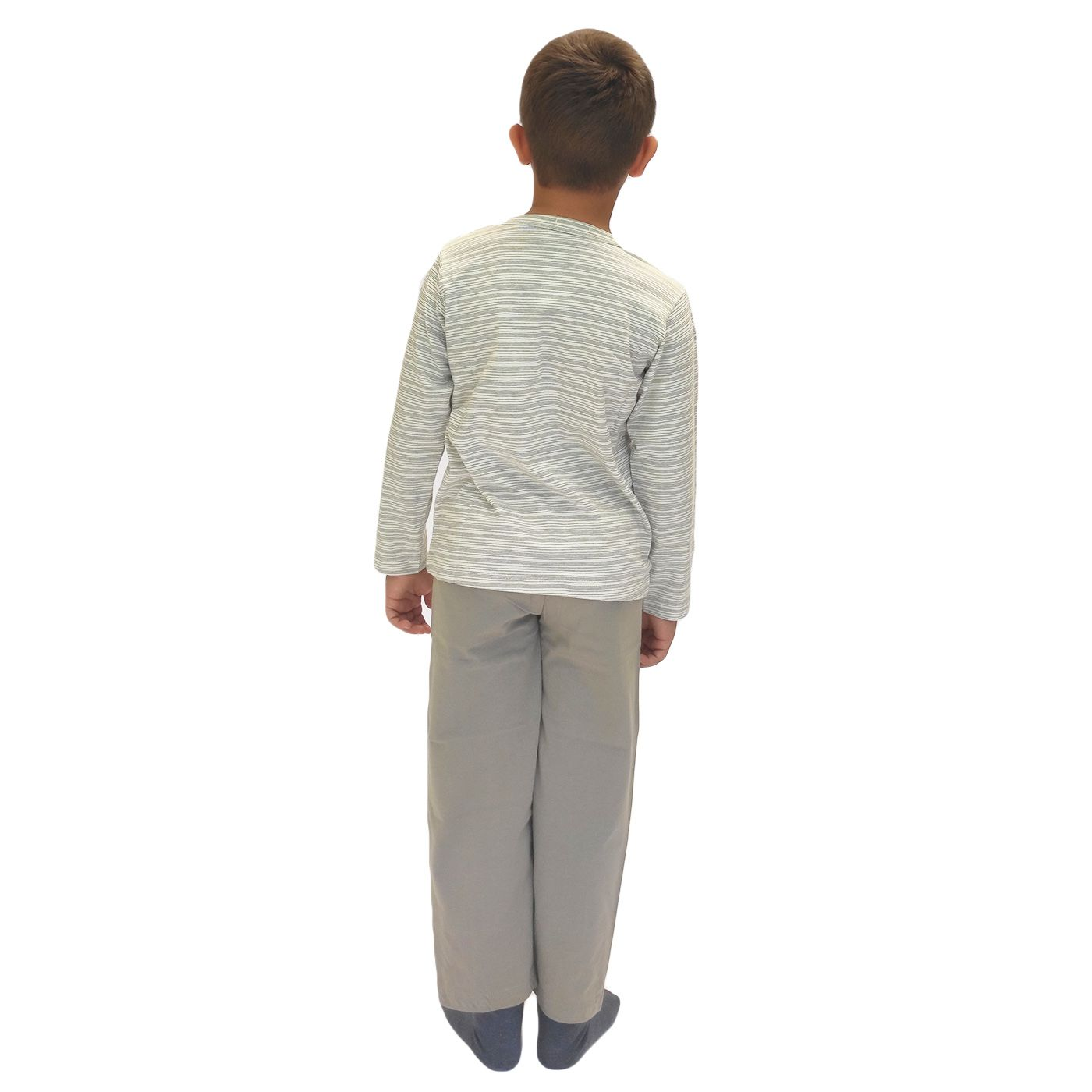 Pijama infantil menino frio moto manga longa algodão