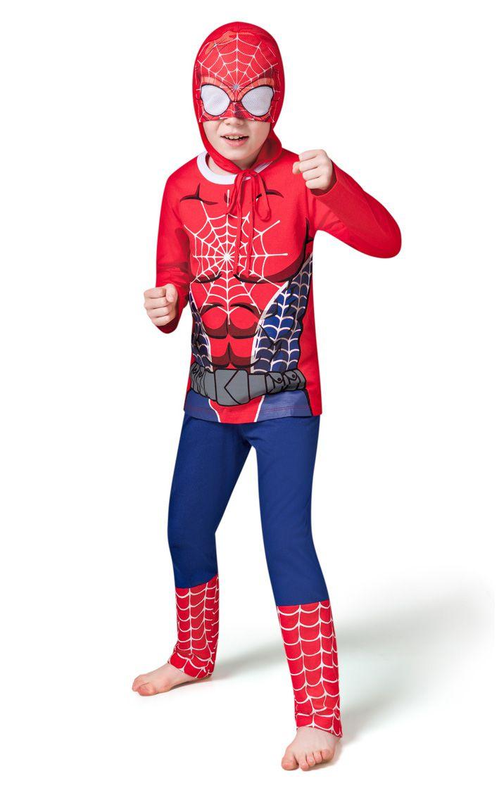 Pijama infantil menino homem aranha inverno veggi