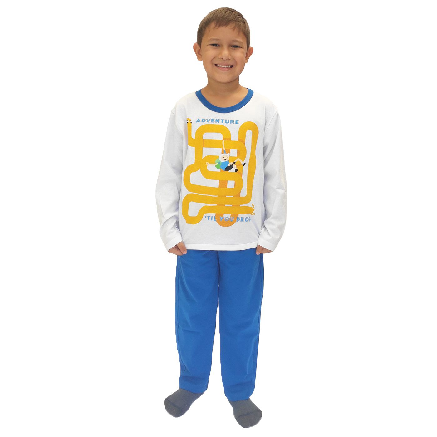 Pijama infantil menino hora de aventura lupo