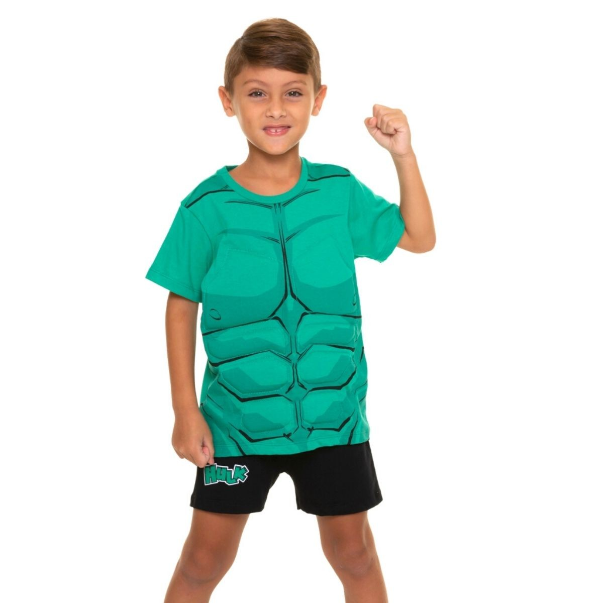 Pijama infantil menino hulk personagem marvel musculoso