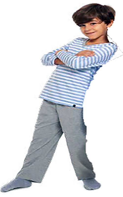 Pijama infantil menino listras inverno filho algodão lupo