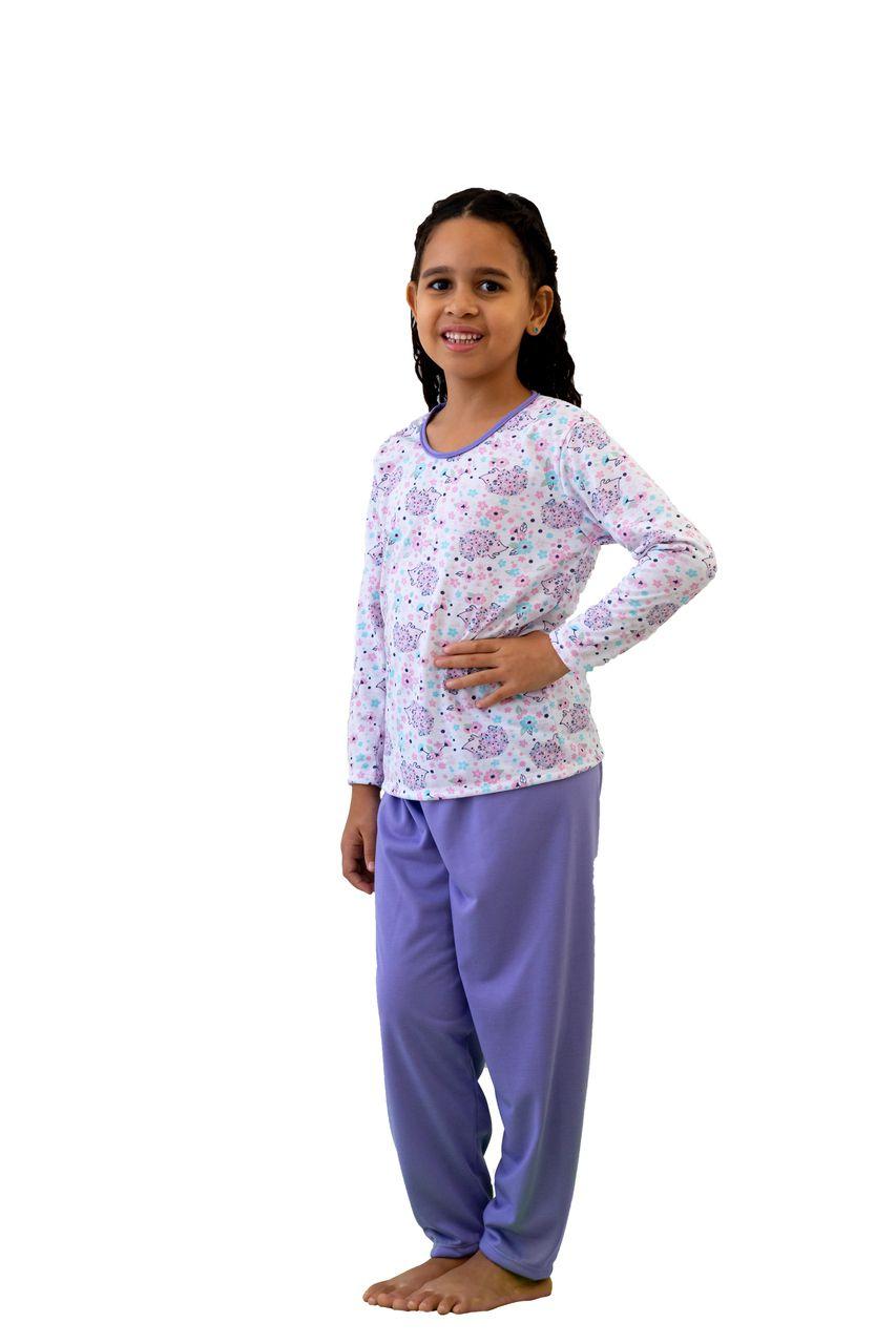 Pijama infantil menino menina bichinhos de frio