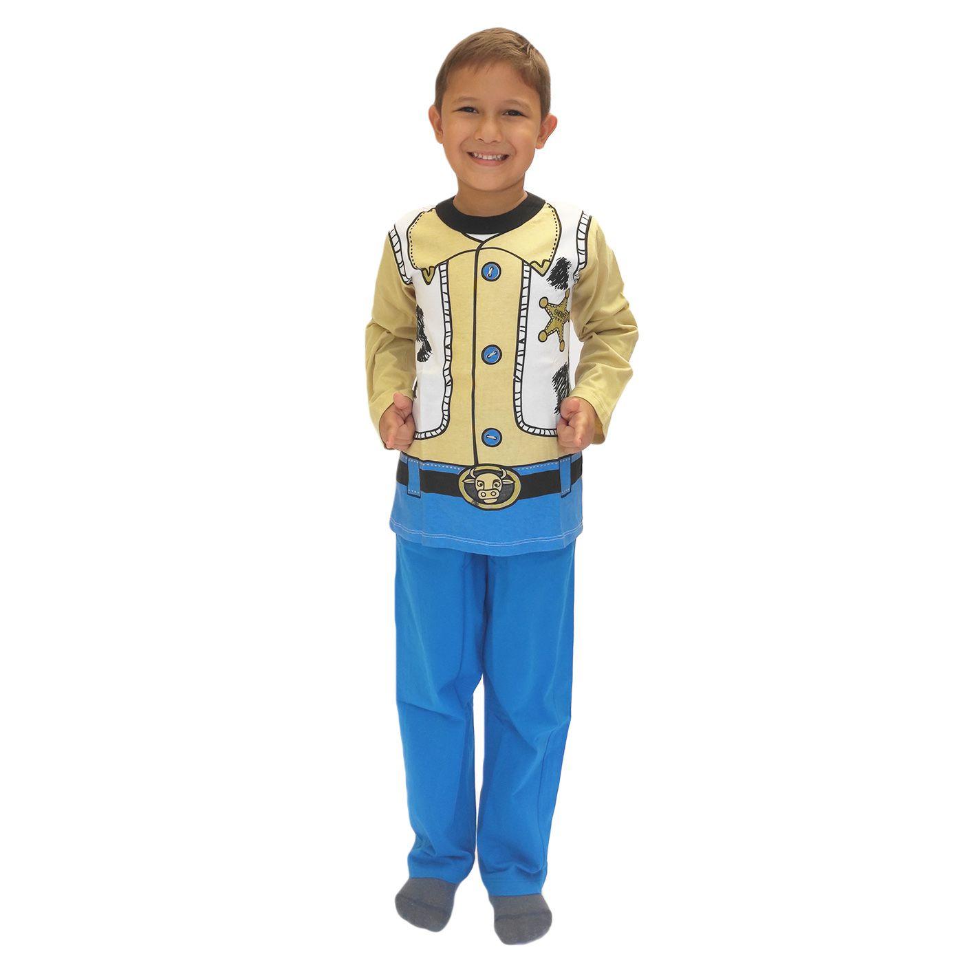 Pijama infantil xerife woody toy story menino disney