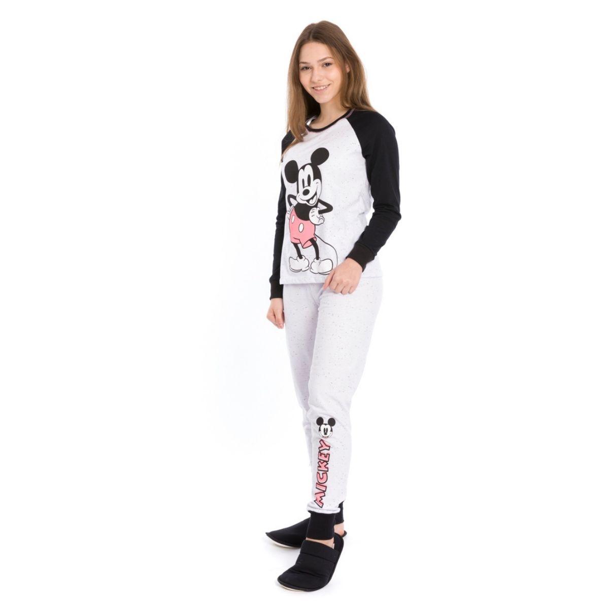 Pijama juvenil menina mickey quentinho inverno 2021