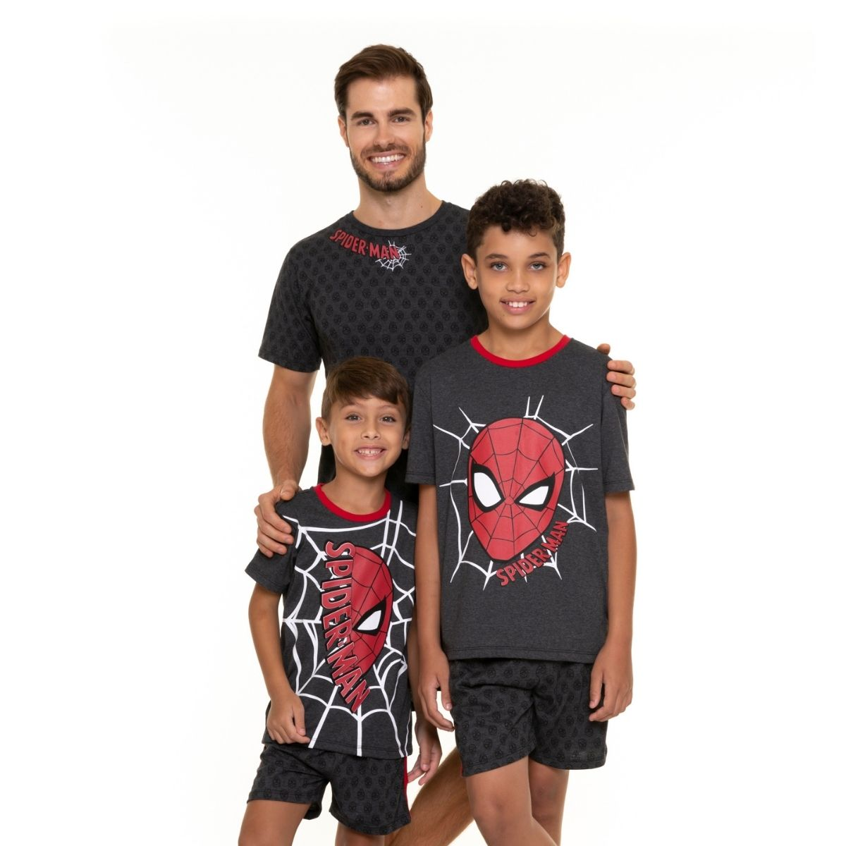 Pijama juvenil menino calor homem aranha marvel