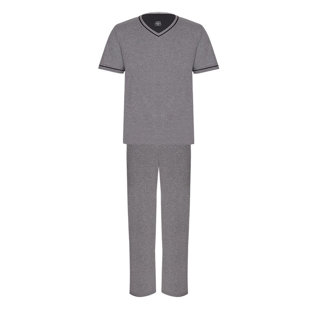 Pijama masculino manga curta algodão inverno lupo