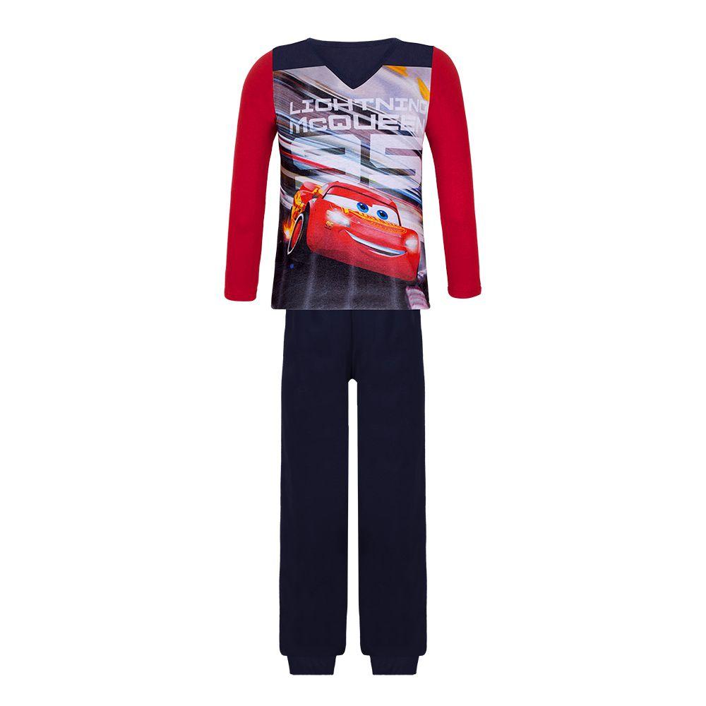 Pijama menino com punho disney carro inverno lupo