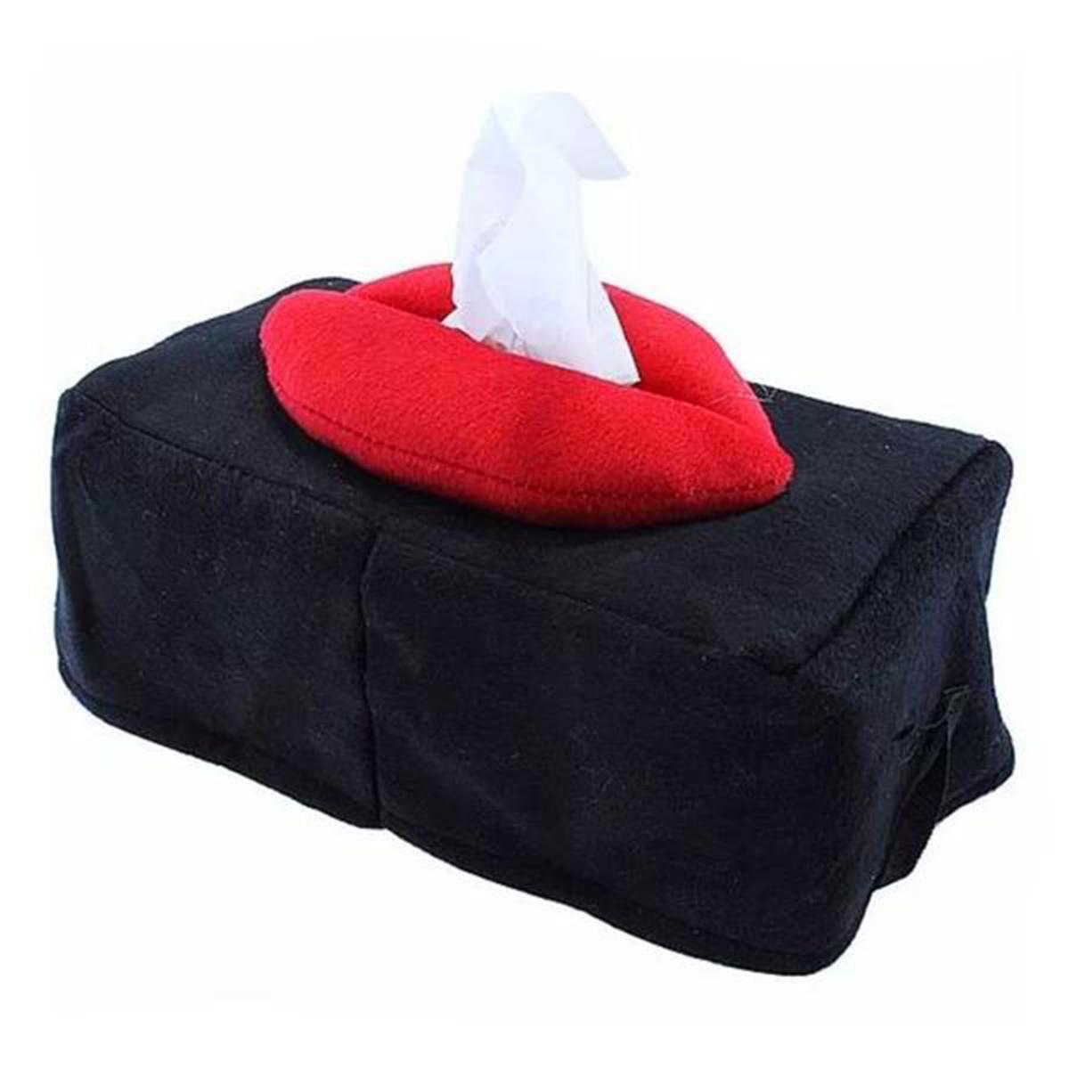 Porta lenço em formato de boca prático estiloso multi - função