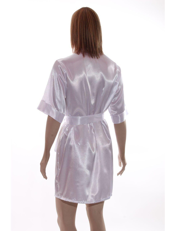 Robe de cetim curto meia manga liso noiva