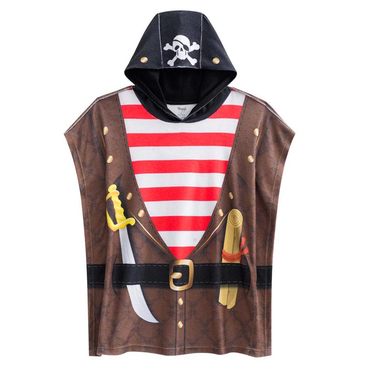Roupão pirata com desenho de uma espada com toca de caveira
