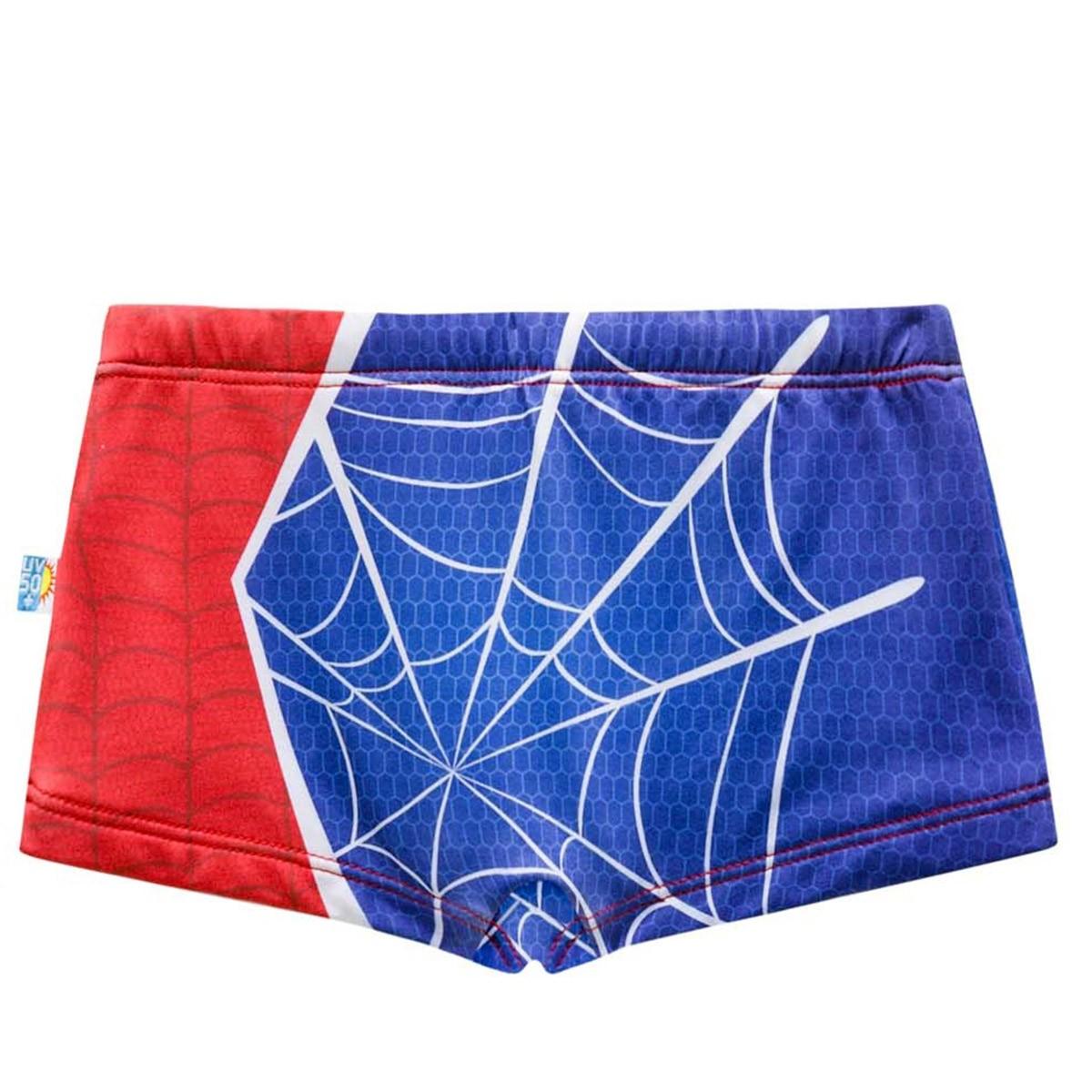 Sunga criança teia aranha spider men azul vermelha marvel