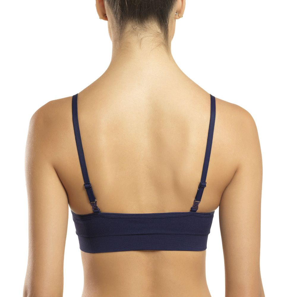 Sutiã s/costura bojo removível touch regulagem costas lupo